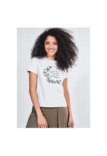 Camiseta Off-White Estampa Primavera