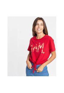 Camiseta Gam 485012 Gam Vermelho