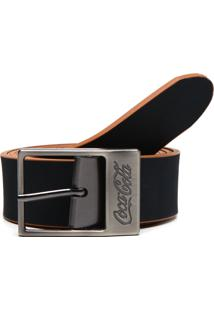 Cinto Coca Cola Accessories Dupla-Face Filete Azul-Marinho/Preto