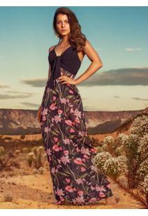0bece1e00c ... Vestido Quintess Floral Dark Com Hot Pant