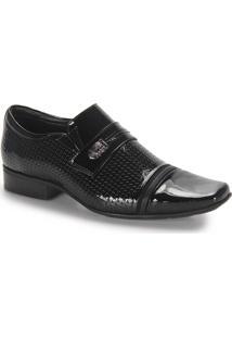 Sapato Conforto Masculino Jota Pe Fergus - Preto