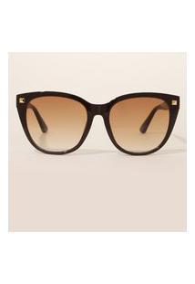 Óculos De Sol Feminino Gatinho Yessica Marrom