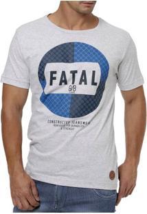 Camiseta Manga Curta Masculina Fatal Cinza