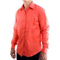 Camisa Zimpool Social Slim Fit Manga Longa Vermelha 7d480efbec777