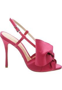 Sandália Big Bow Bright Rose   Schutz