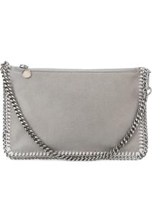 Stella Mccartney Clutch Modelo 'Shaggy Deer Falabella' - Cinza