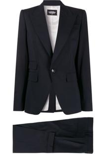 Dsquared2 Single-Breasted Suit Jacket - Azul
