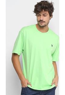 Camiseta U.S.Polo Assn Com Bordado Masculina - Masculino-Verde
