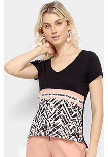 Camiseta Acostamento Action Reflection Fron Yourself Feminina - Feminino-Rosa Claro