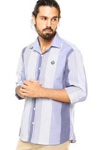 Camisa Forum Listras Recorte Azul
