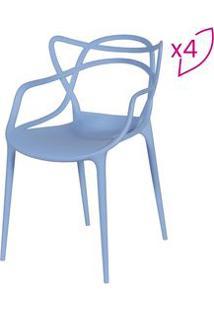 Or Design Jogo De Cadeiras De Jantar Solna Azul 4Pã§S