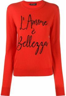 Dolce & Gabbana Suéter De Tricô - Vermelho