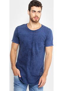 Camiseta Alongada Flamê Kohmar Manga Curta Masculina - Masculino