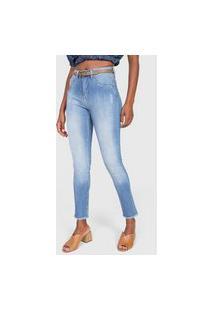 Calça Jeans Cantão Skinny Destroyed Azul