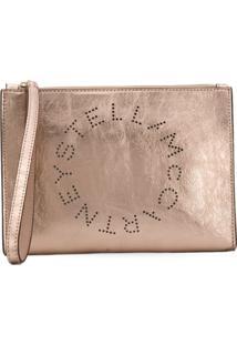 Stella Mccartney Clutch Stella Com Logo - Dourado
