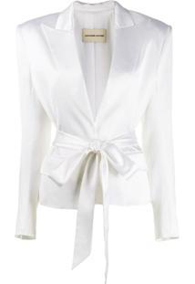 Alexandre Vauthier Blazer Com Cinto - Branco