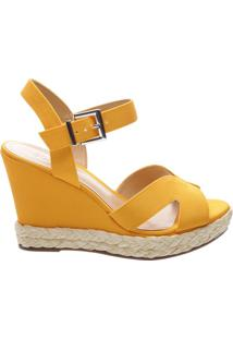 Sandália Anabela Yellow | Schutz