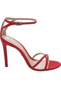 Sandália Strings Nobuck Red | Schutz