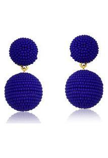 Brinco Bolinha Le Diamond Azul Marinho