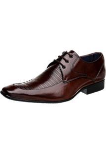 Sapato Social Bigioni Cadarço Marrom