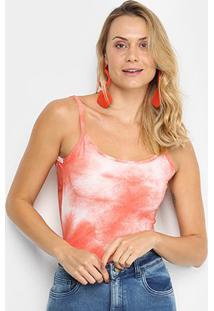 Body Naif Tie Dye - Feminino-Laranja