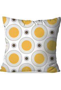 Capa De Almofada Love Decor Avulsa Círculos Amarelo Multicolorido