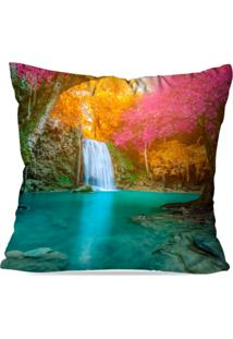 Capa De Almofada Avulsa Decorativa Cachoeira 45X45Cm