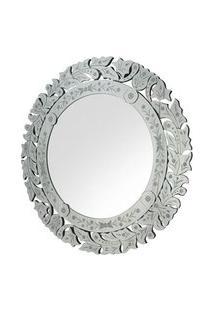 Espelho Veneziano Redondo Hena Cor Prata - 34313 Sun House