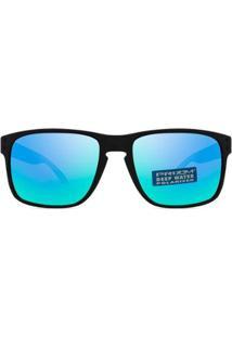 Óculos De Sol Oakley Holbrook Polarizado Oo9102 C1-55 - Masculino-Preto