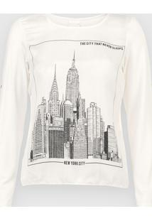Blusa Enfim New York Off-White