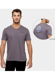 Camiseta Calvin Klein Gola V Estampada - Masculino