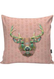 Capa Para Almofada Geometric Deer- Rosa Claro & Verde Ágstm Home