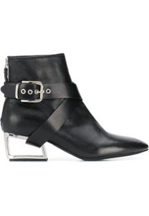 Premiata Cut-Out Heel Ankle Boots - Preto
