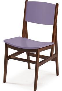 Cadeira Dumon Cacau E Lilás