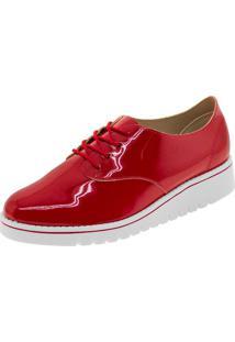 7bed35942 Clóvis Calçados. Oxford Tipo Beira Rio Marca Oxford Feminino Vermelho  Oxford Sapato ...