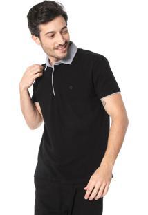 Camisa Polo Dudalina Reta Preta