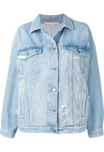 Stella Mccartney Jaqueta Jeans The Boyfriend - Azul