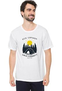 Camiseta Masculina Eco Canyon Wild Forest Branco