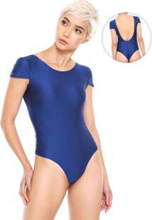 Body Fiveblu Abertura Costas Azul-Marinho