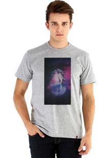 Camiseta Ouroboros Manga Curta Eu Sei Lá - Masculino-Cinza