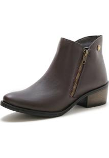 Bota Cano Curto Over Boots Urbana Marrom