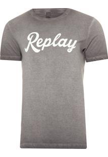 Camiseta Masculina Novara Replay - Cinza