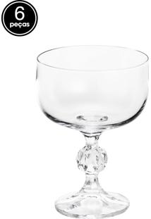 Conjunto De Taças 6Pçs Bohemia Para Sobremesa De Cristal Klaudie Sterna Incolor