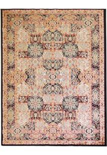 Tapete Isfahan Retangular Veludo 60X120 Cm Preto