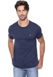 Camiseta Malwee Slim Botonê Azul-Marinho