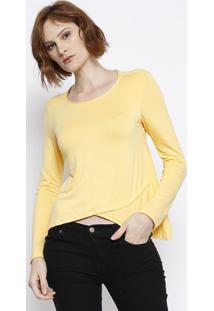 Blusa Em Boton㪠- Amarela & Branca - Malweemalwee