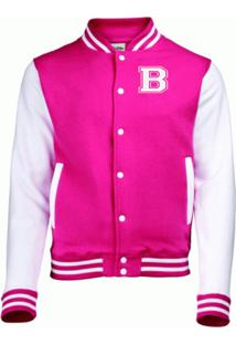 Jaqueta College4Ever Letra B Bordada Pink