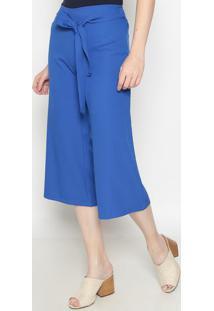 Calça Pantalona Lisa- Azul- Operateoperate