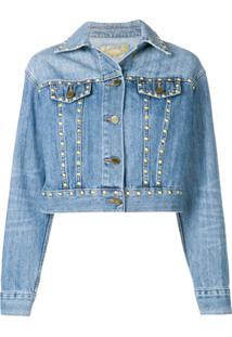 Michael Michael Kors Jaqueta Jeans Com Tachas - Azul