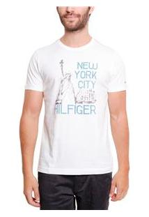Camiseta Masculina Th0887883217 Tommy Hilfiger - Snow White